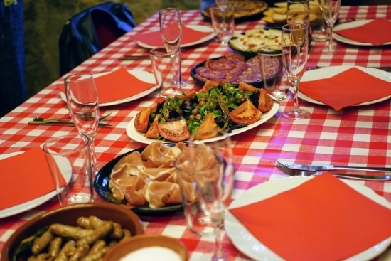 A traditional gourmet lunch on a Barcelona Day trip to Cava winery with wanderbeak