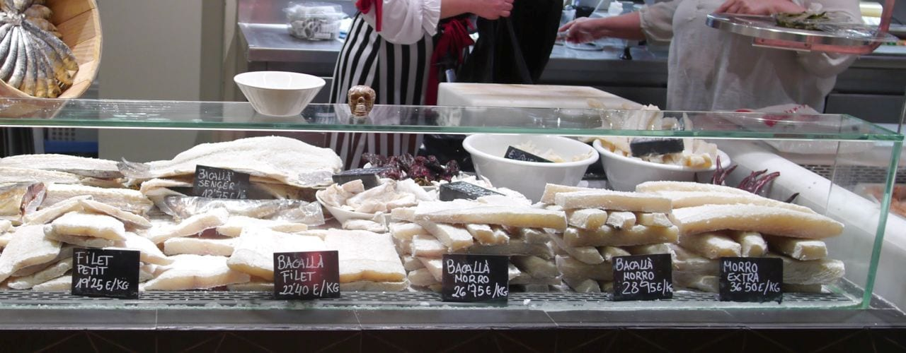 Learn about the history and origins of Bacaloa on a Barcelona market to tapas tour