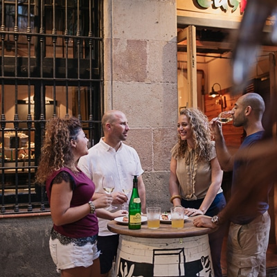 A traditional bodega on the Wanderbeak Tapalicious Food Tour in Barcelona