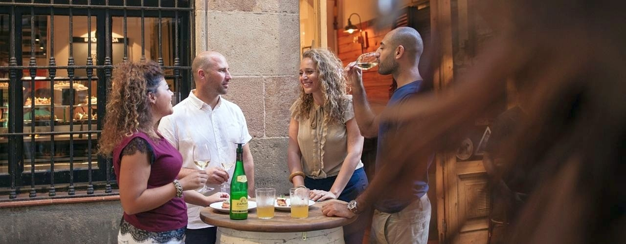 One of our favourite Basque bars in Barcelona on the Tapalicious Barcelona Tapas Tour with Wanderbeak Tours