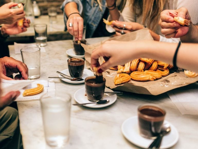 Taste the best chocolate and churros in Barcelona on a Market to Tapas tour with wanderbeak