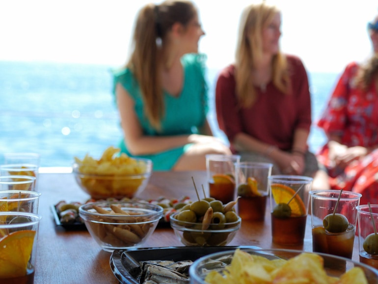 Sail Barcelona and the hour of vermouth on a Sail To Lunch Tour in barcelona with wanderbeak tours