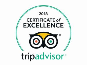 tripadvisor 2018 certificate of excellence for wanderbeak barcelona food tours, tapas tours and wine tasting