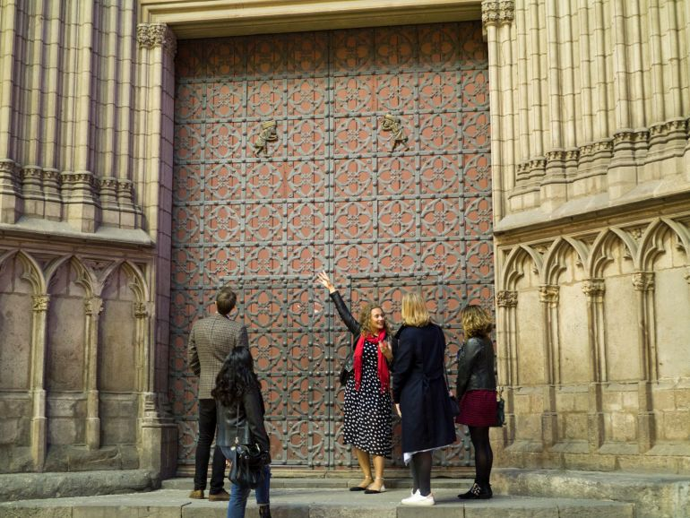 discovering medieval history on the perfect pairing - Barcelona wine tour & food tasting tours with wanderbeak tours