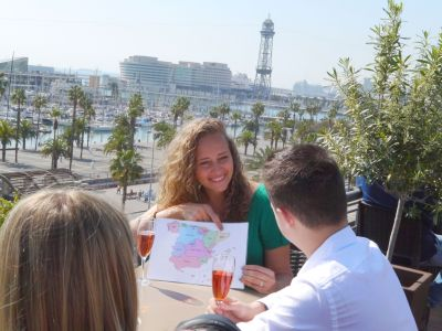 One of our favourite views in Barcelona on the Tapalicious Tapas Tour with Wanderbeak Tours