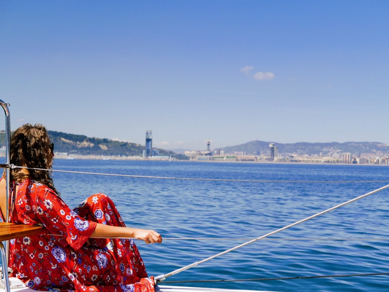 Sail Barcelona as you rest and relax on a barcelona sailing experience with wanderbeak tours