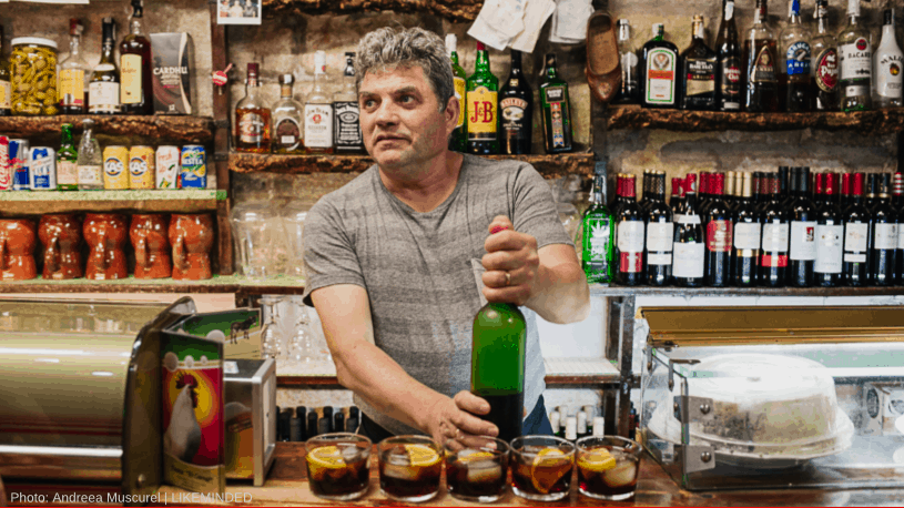 One of our favourite bars and barmen in Barcelona, on the Savor Spain Food Tour with wanderbeak