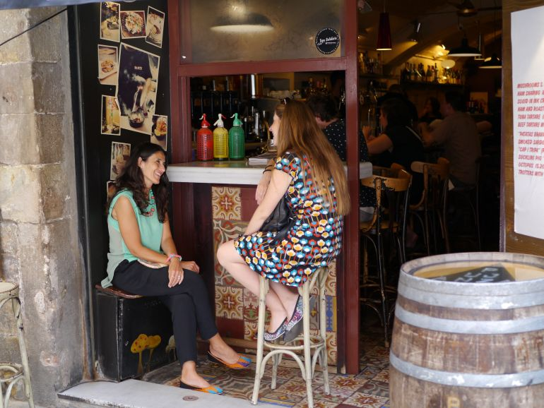 Traditional eating stop in Born to Eat - Barcelona tapas and wine tasting tour